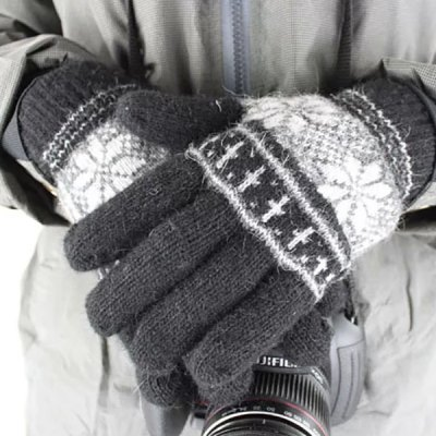 Гаджет   2Pcs Full - finger Gloves Winter Outdoor Riding Cycling Skiing Supplies for Male Cycling Gloves