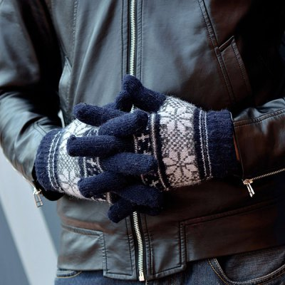 Фотография 2Pcs Full - finger Gloves Winter Outdoor Riding Cycling Skiing Supplies for Male