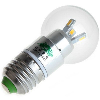 Zweihnder 3W E27 6 x SMD 5730 Globe Bulb 3000 - 3500K 280LM Ball LampLED Light Bulbs<br>Zweihnder 3W E27 6 x SMD 5730 Globe Bulb 3000 - 3500K 280LM Ball Lamp<br><br>Brand : Zweihnder<br>Base Type: E27<br>Type: Ball Bulbs<br>Output Power: 3W<br>Emitter Type: SMD-5730 LED<br>Total Emitters: 6 LEDs<br>Actual Lumen(s): 280Lm<br>Voltage (V): AC110-240<br>Features: Low Power Consumption, Long Life Expectancy, Energy Saving<br>Function: Home Lighting, Commercial Lighting, Studio and Exhibition Lighting<br>Available Light Color: Warm White<br>Sheathing Material: Glass<br>Product Weight: 0.031 kg<br>Package Weight: 0.055 kg<br>Product Size (L x W x H): 8.8 x 4.5 x 4.5 cm / 3.46 x 1.77 x 1.77 inches<br>Package Size (L x W x H): 11 x 6 x 6 cm<br>Package Contents: 1 x Zweihnder E27 3W 6 SMD-5730 Ball Bulb