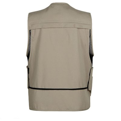 Outdoor Multi - pocket Fishing Vest Hiking Photography Reporter Director Waistcoat for MaleVests<br>Outdoor Multi - pocket Fishing Vest Hiking Photography Reporter Director Waistcoat for Male<br><br>Category: Fishing Vest<br>Material: Dacron<br>Activity: Hiking, Fishing, Camping, Leisure Sports, Fishing<br>Gender: Man<br>Features: Breathable, Light weight, Quick dry, Comfortable to wear<br>Season: Summer, Spring<br>Size: XXXL, XL, XXL, L<br>Color: Khaki, Army Green, Black<br>Product weight: 0.310 kg<br>Package weight : 0.360 kg<br>Package size (L x W x H): 27 x 20 x 6 cm<br>Package Contents: 1 x Fishing Vest