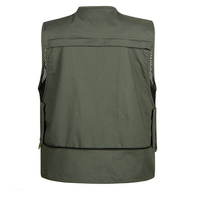 Outdoor Multi - pocket Fishing Vest Hiking Photography Reporter Director Waistcoat for MaleVests<br>Outdoor Multi - pocket Fishing Vest Hiking Photography Reporter Director Waistcoat for Male<br><br>Category: Fishing Vest<br>Material: Dacron<br>Activity: Camping, Fishing, Hiking, Leisure Sports, Fishing<br>Gender: Man<br>Features: Breathable, Light weight, Quick dry, Comfortable to wear<br>Season: Summer, Spring<br>Size: XL, XXXL, L, XXL<br>Color: Army Green, Khaki, Black<br>Product weight: 0.310 kg<br>Package weight : 0.360 kg<br>Package size (L x W x H): 27 x 20 x 6 cm<br>Package Contents: 1 x Fishing Vest
