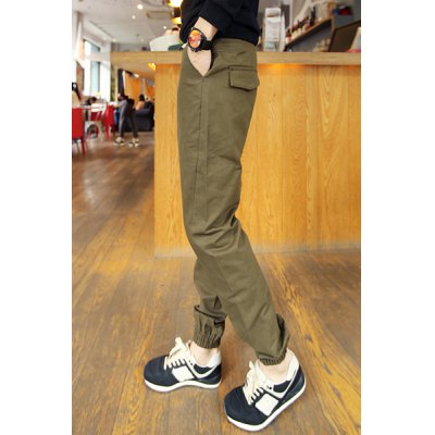 Гаджет   Slimming Stylish Pocket Sutures Design Beam Feet Cotton Blend Joggers Pants For Men