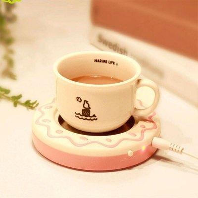 Cookies Biscuit Shaped USB Warmer Cup Coaster