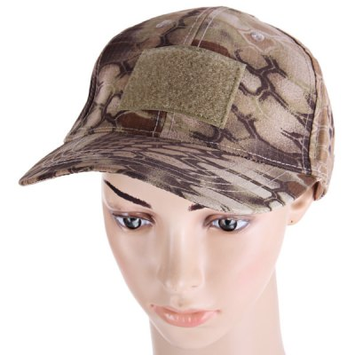 Гаджет   Cool Anaconda Pattern Peaked Cap Outdoor Anti - UV Camouflage Visors Baseball Hat with Velcros Hats and Scarfs