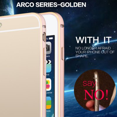 USAMS Arco Series Novelty Frame Design Protective Bumper Case with Aluminium Alloy Material Design for iPhone 6 Plus  -  5.5 inches