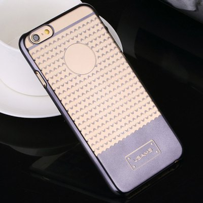 USAMS V - plating Series Transparent PC Material Triangle Pattern Back Cover Case