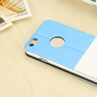 Фотография USAMS IU Series Contrast Color PU and Metal Material Cover Case for iPhone 6  -  4.7 inches