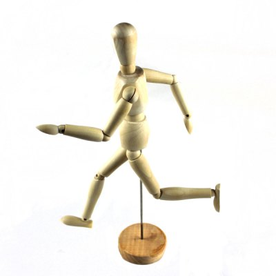 Home Decoration Wooden Movable Joints Doll with Stand