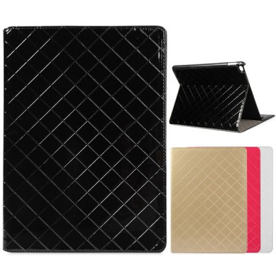 Фотография Fashionable Grid Pattern PU and PC Material Cover Case for iPad Air 2