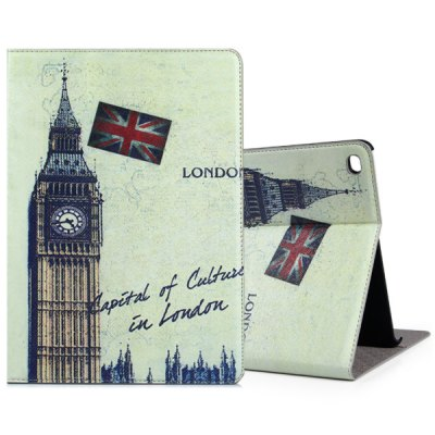 ФОТО Fashionable Bell Tower Pattern PU and PC Material Cover Case for iPad Air 2