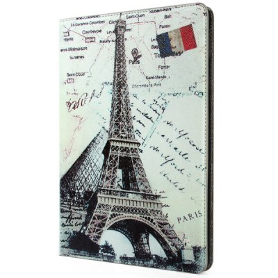 ФОТО Novelty Eiffel Tower Pattern PU and PC Material Cover Case for iPad Air 2