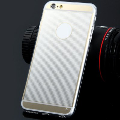 Гаджет   TPU Material Transparent Stripe Pattern Back Case Cover for iPhone 6 Plus  -  5.5 inches