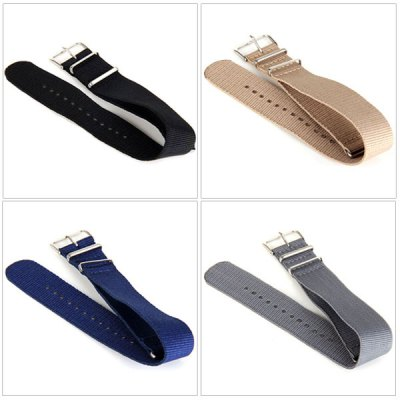 2.4cm Canvas Watch Band Strap WristbandWatch Accessories<br>2.4cm Canvas Watch Band Strap Wristband<br><br>Type: Normal watch band<br>Features: Fashionable and strong<br>Color: Blue, Gray, Khaki, Black<br>Product weight: 0.010 kg<br>Package weight: 0.042 kg<br>Product size (L x W x H) : 28.3 x 2.3 x 0.5 cm / 11.14 x 0.91 x 0.2 inches<br>Package size (L x W x H): 14.5 x 5 x 1.5 cm<br>Package Contents: 1 x Watch Band