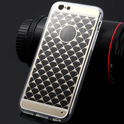 Фотография TPU Material Transparent Triangle Pattern Back Case Cover for iPhone 6  -  4.7 inches