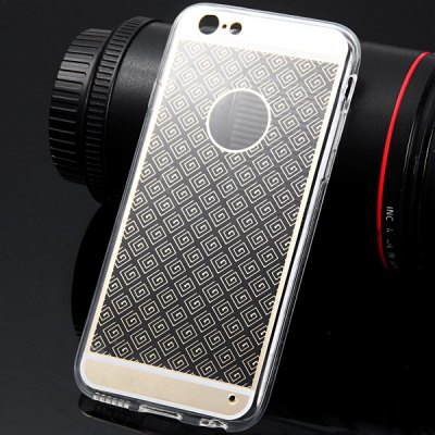 Фотография TPU Material Transparent Maze Pattern Back Case Cover for iPhone 6  -  4.7 inches