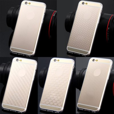 Фотография TPU Material Transparent Big Grid Pattern Back Case Cover for iPhone 6  -  4.7 inches