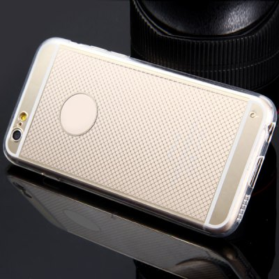 Фотография TPU Material Transparent Small Grid Pattern Back Case Cover for iPhone 6  -  4.7 inches