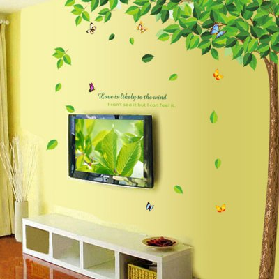 Creative Reusable DIY Decorative Greenery Pattern Wall Sticker Removable Decor Mural for House Ornament