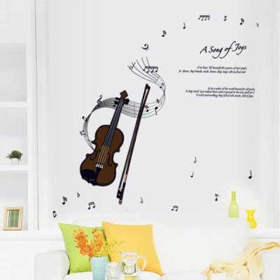 Creative Reusable DIY Violin Pattern Wall Sticker Removable Decor Mural for House OrnamentWall Stickers<br>Creative Reusable DIY Violin Pattern Wall Sticker Removable Decor Mural for House Ornament<br><br>Art Style: Plane Wall Stickers<br>Features: Violin Pattern; Removable Repositionable and Reusable.<br>Functions: Decorative Wall Stickers<br>Hang In/Stick On: Kids Room, Living Rooms, Bedrooms, Offices, Cafes, Hotels<br>Material: Vinyl(PVC)<br>Effect Size (L x W): Free combination<br>Product weight   : 0.150 kg<br>Package weight   : 0.180 kg<br>Product size (L x W x H)   : 50.0 x 70.0 x 1.0 cm / 19.6 x 27.5 x 0.4 inches<br>Package size (L x W x H)  : 25.0 x 35 x 10.0 cm<br>Package Contents: 1 x Wall Sticker