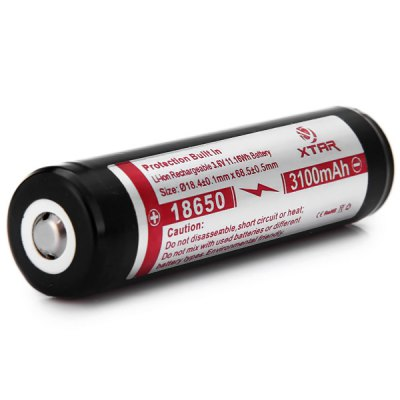 Гаджет   XTAR 18650 Lithium Battery 3.6V 3100mAh Protected Rechargeable Battery Batteries