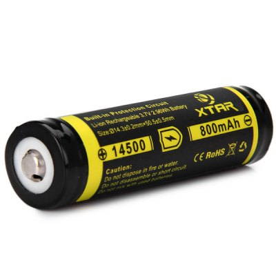 Гаджет   XTAR 14500 800mAh 3.7V Protected Li - ion Rechargeable Battery for Digital Products Batteries