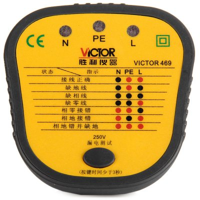 VICTOR 469 Electric Outlet Safety Tester