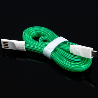 Гаджет   K9 - V8 Portable 1m LED Luminous Flat Style Micro USB Cable iPhone Cables & Adapters