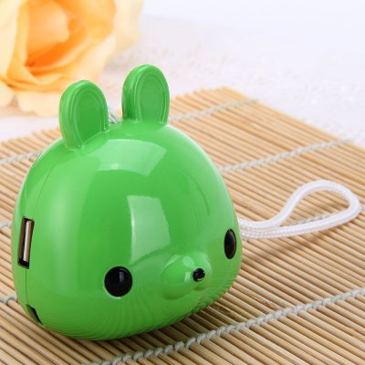 Creative Portable Rabbit Type Sound Radio Speaker Music Box Built - in Lithium Battery Support Earphone Output