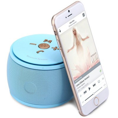 ФОТО F08 MIC Wireless Bluetooth 3.0 Speaker Built - in Lithium Battery Support TF Card AUX External Audio Input
