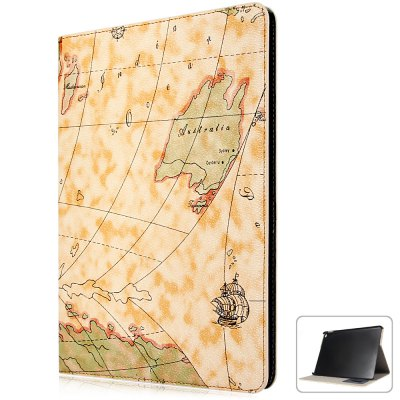 Fashionable Map Pattern PU and PC Material Cover Case