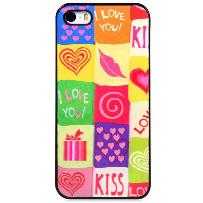 ФОТО Stylish PC Material Back Case Cover with 3D Vary Picture Design  -  Heart and Lip Pattern