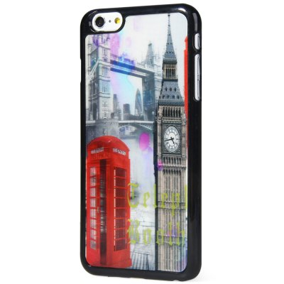 ФОТО Stylish PC Material Back Case Cover with 3D Vary Picture Design  -  Bell Tower and Telephone Booth Pattern