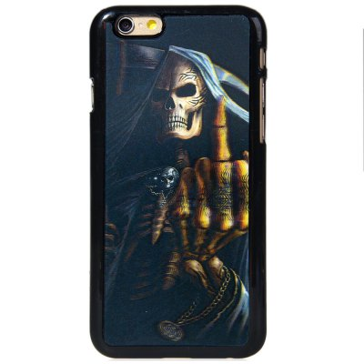 ФОТО Stylish Plastic Material Back Case Cover with 3D Vary Picture Design  -  Skull Man Pattern
