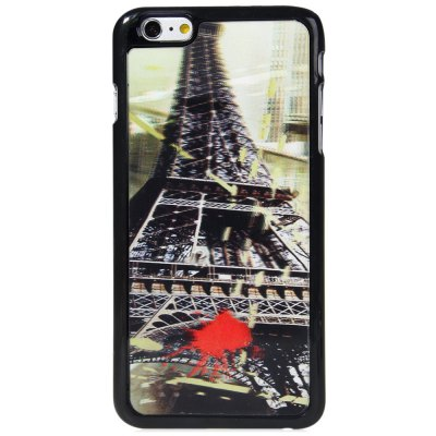 ФОТО Fashionable Plastic Material Back Case Cover with 3D Vary Picture Design  -  Iron Tower and Butterfly Pattern