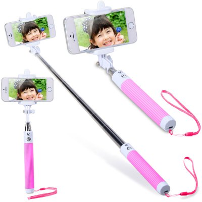 Bluetooth Wireless RC Self Timer Stretch Camera Monopod with 270 Degrees Rotatable Clip Stand