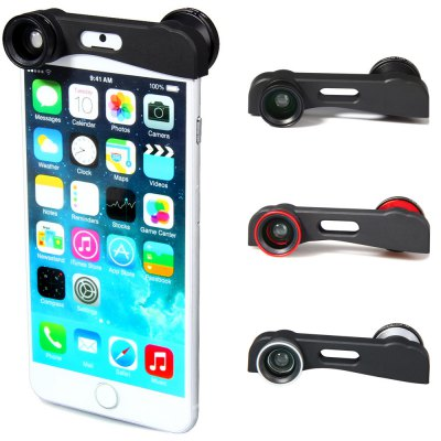3 in 1 Fisheye Macro and Wide Angle Camera Lens for iPhone 6 Plus - 5.5 inches