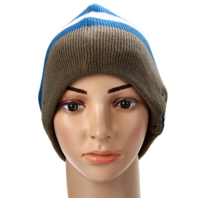 Фотография Creative 2.4GHz MIC Wireless Bluetooth Knitted Winter Hat Cap Media Music Receiver Built - in Lithium Battery for Bluetooth Devices