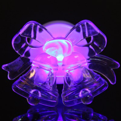Crystal Jingle Bell with Colorful Shinning LED Light