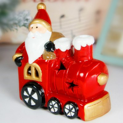 Santa Clause with Locomotive Style LED Color-changing Light