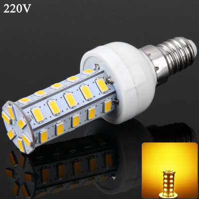 E14 7W 36 SMD-5730 220V Dimmable Warm White Corn Light
