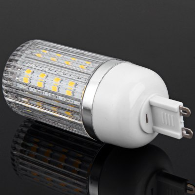 7W G9 SMD 5730 36 - LEDs Dimmable Stripy Shaded LED Corn Bulb  -  1600LM Warm White