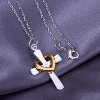 heart cross pendant(without the chain)