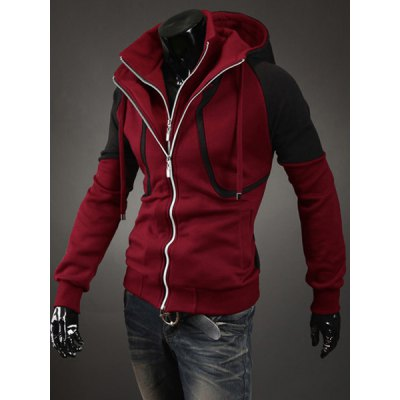 Stylish Slimming Faux Twinset Color Block Splicing Long Sleeve Polyester Hoodie For MenMens Hoodies &amp; Sweatshirts<br>Stylish Slimming Faux Twinset Color Block Splicing Long Sleeve Polyester Hoodie For Men<br><br>Material: Polyester<br>Clothing Length: Regular<br>Sleeve Length: Full<br>Style: Fashion<br>Weight: 0.765KG<br>Package Contents: 1 x Hoodie