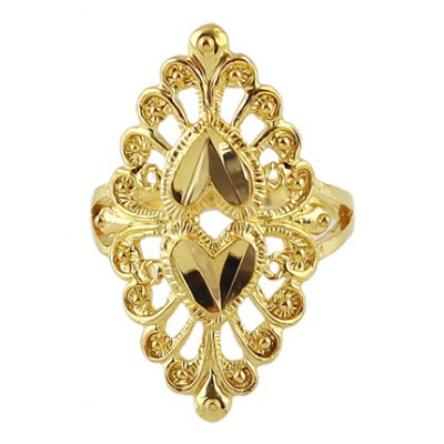 Solid Color Special Shape Openwork Ring