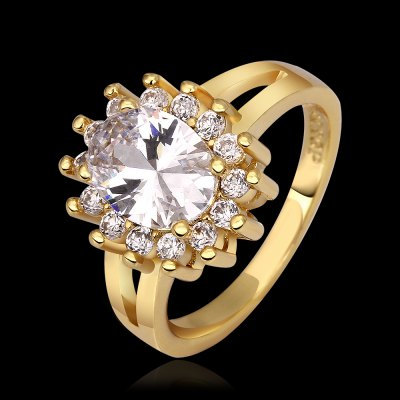 Luxurious 18k Gold Prong Setting Rhinestone Embellished Ring For WomenRings<br>Luxurious 18k Gold Prong Setting Rhinestone Embellished Ring For Women<br><br>Gender: For Women<br>Metal Type: Yellow Gold<br>Style: Trendy<br>Shape/Pattern: Round<br>Diameter: 18.1MM<br>Weight: 0.03KG<br>Package Contents: 1x ring