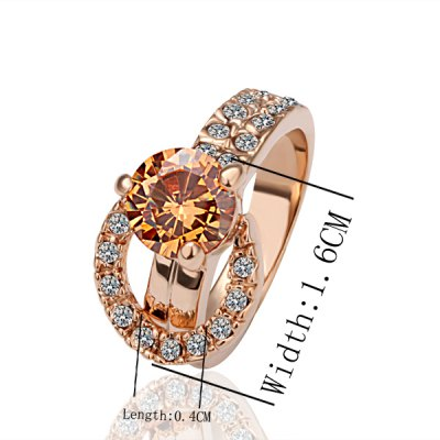 Chic Style Environmental Alloy Rhinestone Ring For Women