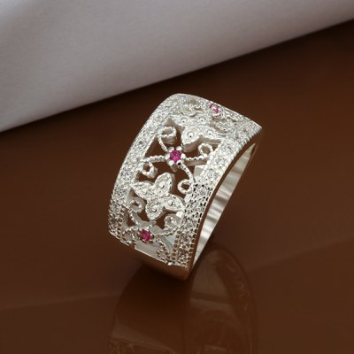 Fashion Rhinestone Broadside Floral Ring For WomenRings<br>Fashion Rhinestone Broadside Floral Ring For Women<br><br>Gender: For Women<br>Metal Type: Silver Plated<br>Style: Trendy<br>Shape/Pattern: Floral<br>Diameter: 18.1MM<br>Weight: 0.03KG<br>Package Contents: 1x ring