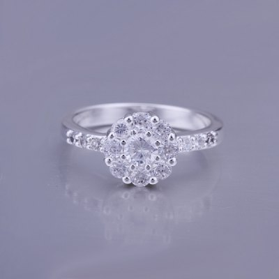Cute Style Embellished Rhinestone Floral Ring