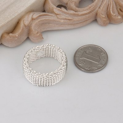Silver Plated Nets Ring