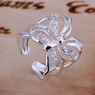 ФОТО Fashionable Pave Setting Butterfly Pattern Design Ring